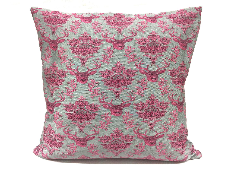 Kissen Grau Pink 40x40
