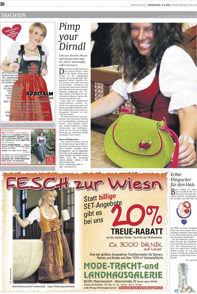Pimp your Dirndl / {Location}: Abendzeitung\\n\\n16.02.2011 11:25