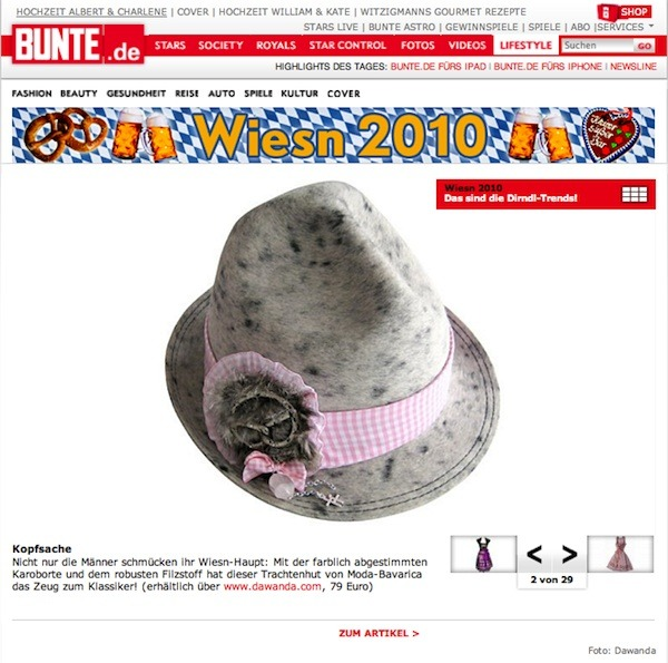 Hut 'aufgebrezelt' / {Location}: Bunte\\n\\n29.07.2011 10:45